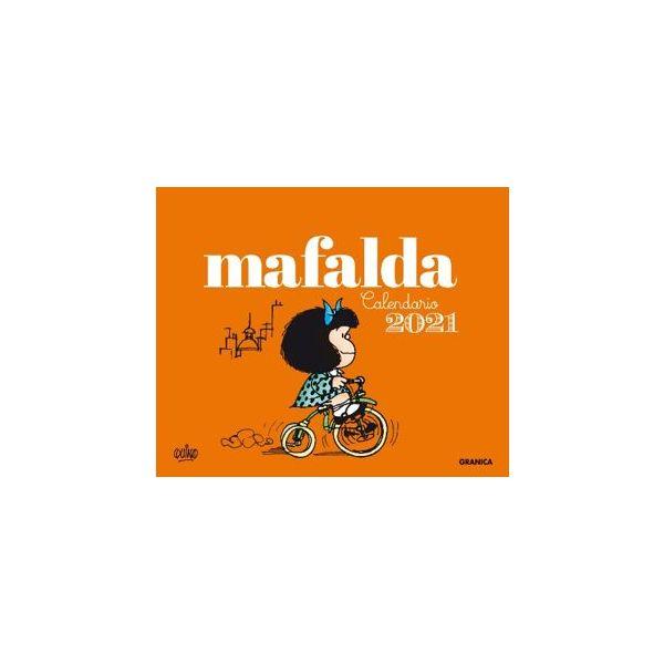 Mafalda 2021 Calendario Escritorio Anaranjado