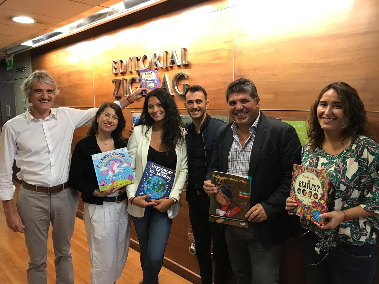 Visitas desde argentina: Ediciones Lea y Latinbooks se reunieron con Zig-Zag en Santiago