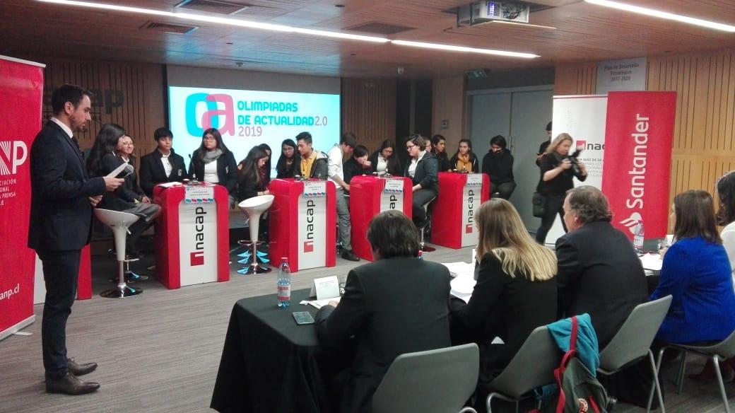 Comenzaron las Olimpiadas de Actualidad 2019: una iniciativa conjunta entre la Asociación Nacional de la Prensa, Zig-Zag, Inacap y Santander